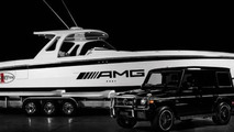 Cigarette Racing Team develops a 42 Huntress inspired by the Mercedes G63 AMG