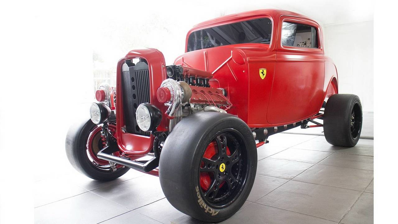 1932 Ford with Ferrari biturbo engine