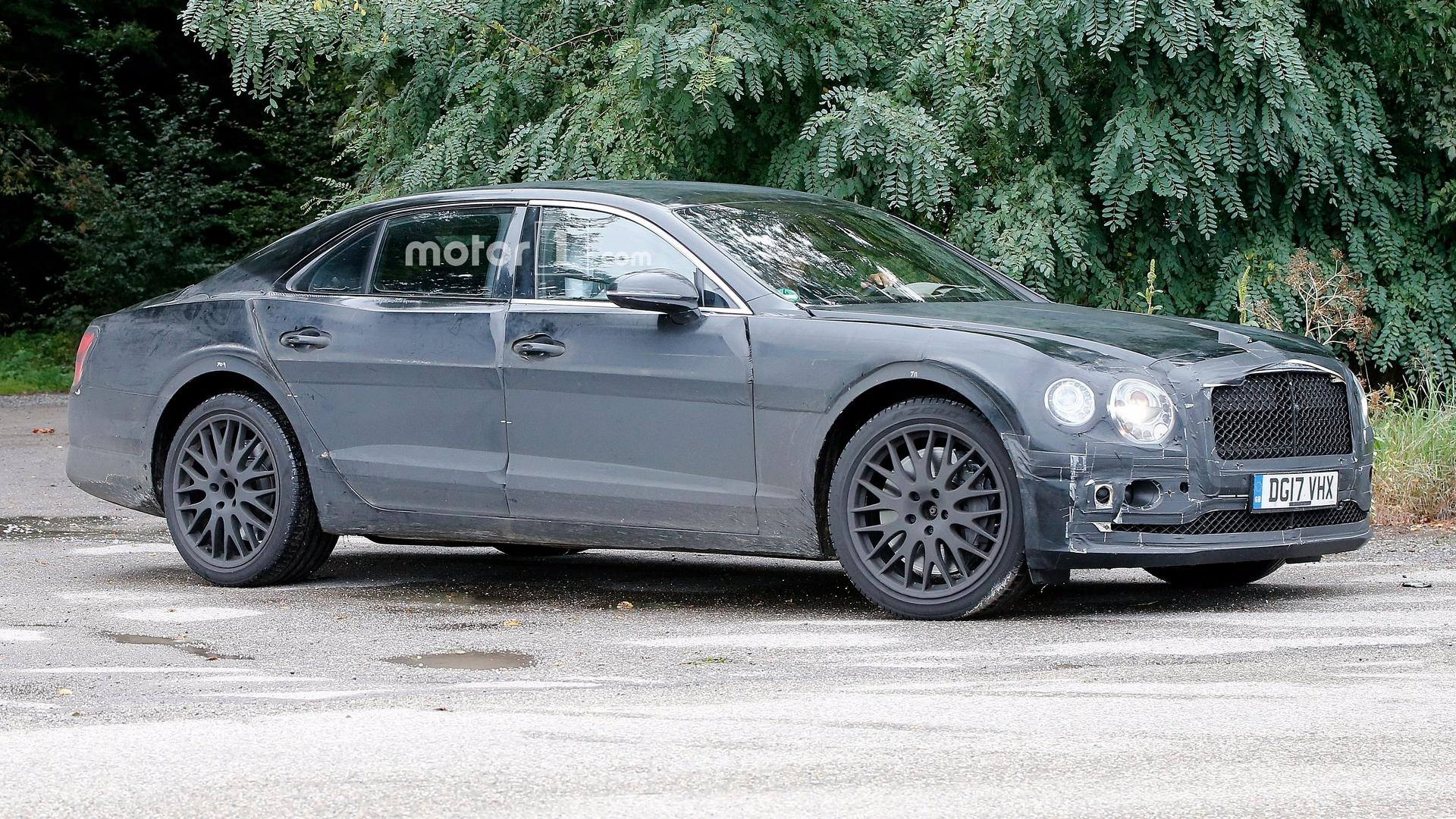 2019 bentley flying spur caught testing with new w12 engine. Black Bedroom Furniture Sets. Home Design Ideas