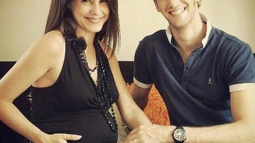 Grosjean celebrates summer break as new father