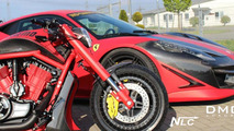 DMC 458 Estremo gets matching twin bike from No-Limit-Custom