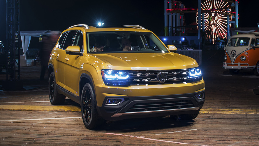 Volkswagen reveals 2018 Atlas with two engines, three rows
