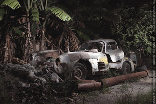 Abandoned Mercedes 300SL Found in Cuba Under a Banana Tree