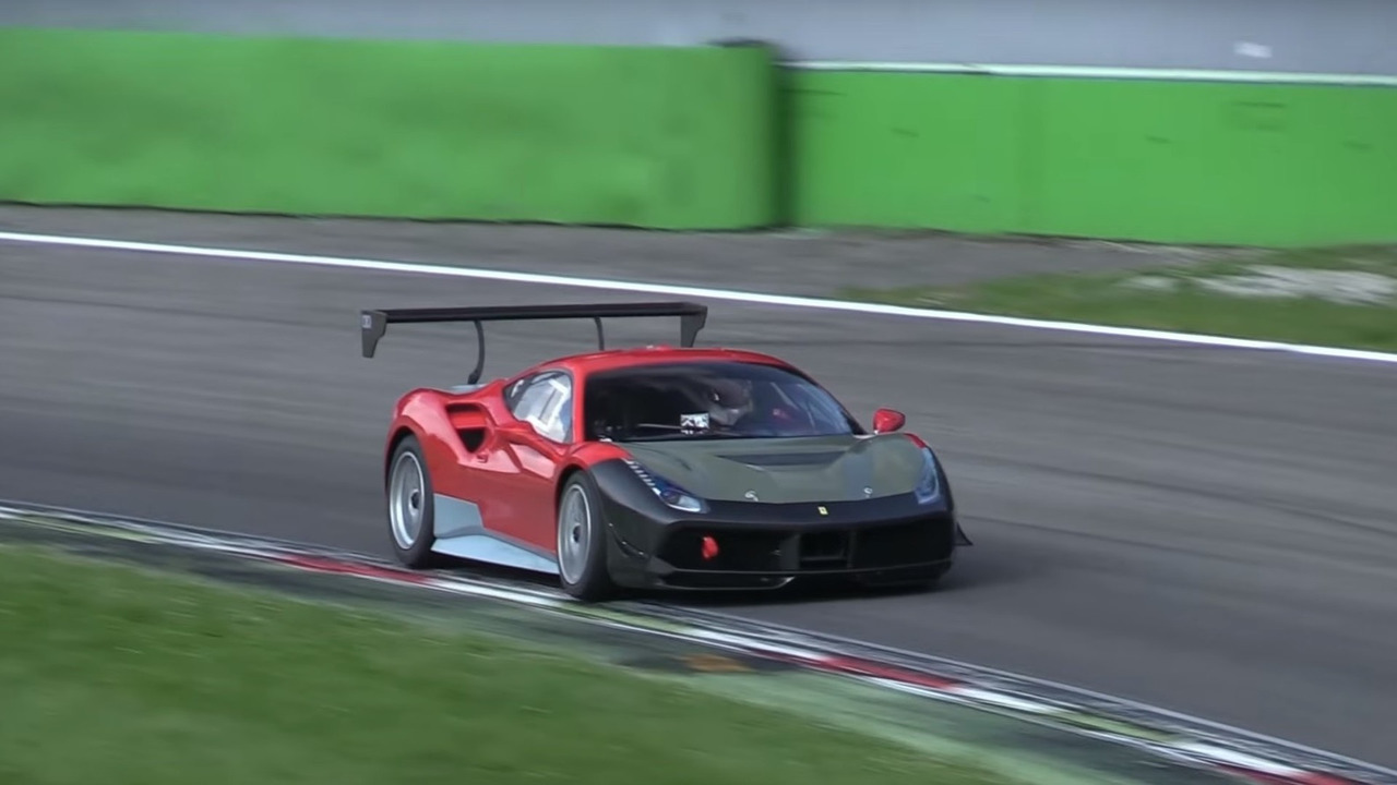 Possible Ferrari 488 Challenge mule
