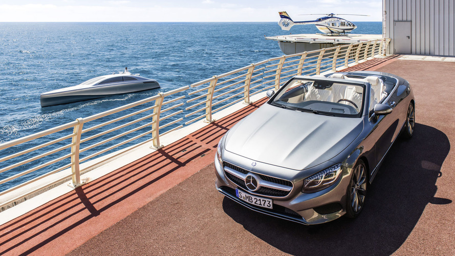 Mercedes highlights its boat, helicopter, and S-Class Cabrio