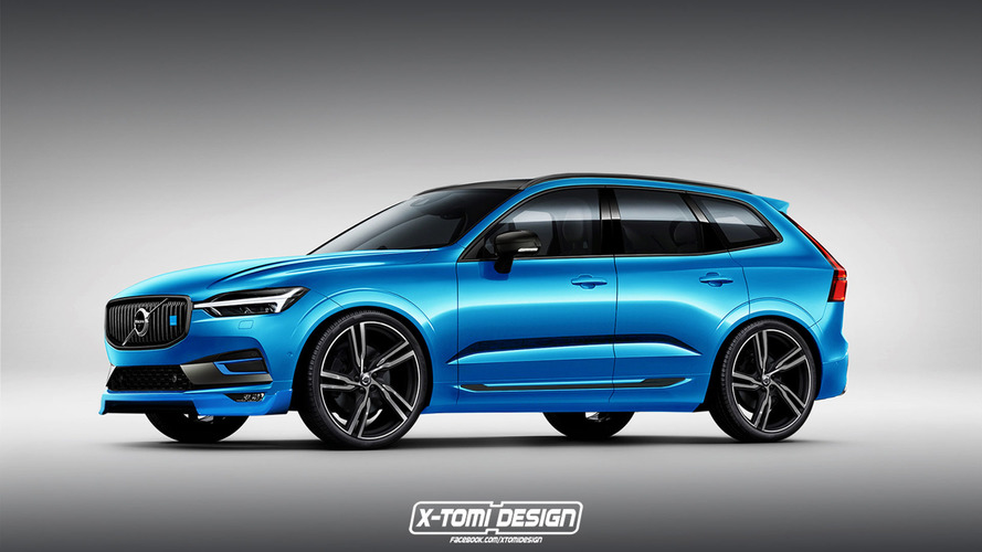 High-performance Volvo XC60 Polestar rendered