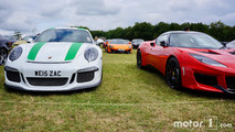 Porsche 911 R and Lotus Evora at 2017 Goodwood Festival of Speed