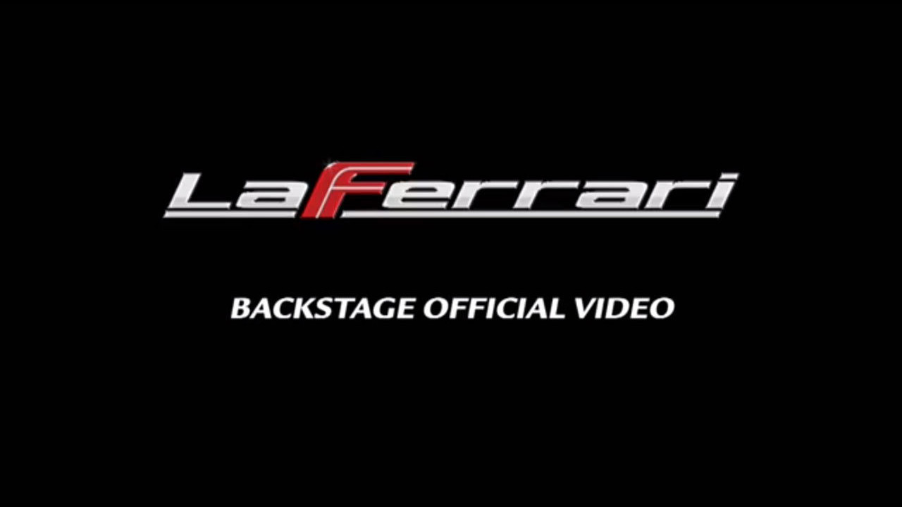 LaFerrari, il backstage del video ufficiale