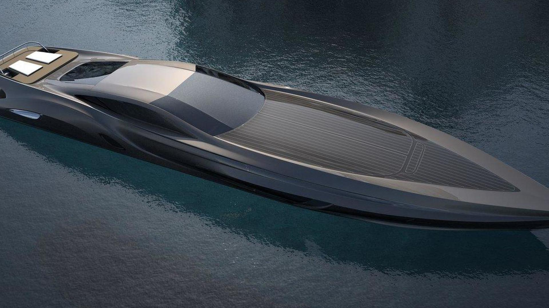 Super Yacht By Gray Design Includes Custom Made Supercar