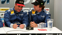 Press conference, Nigel Mansell (GBR) and Emerson Fittipaldi (BRA), talking about the old days in CART, 15.07.2005 Nürnberg, Germany