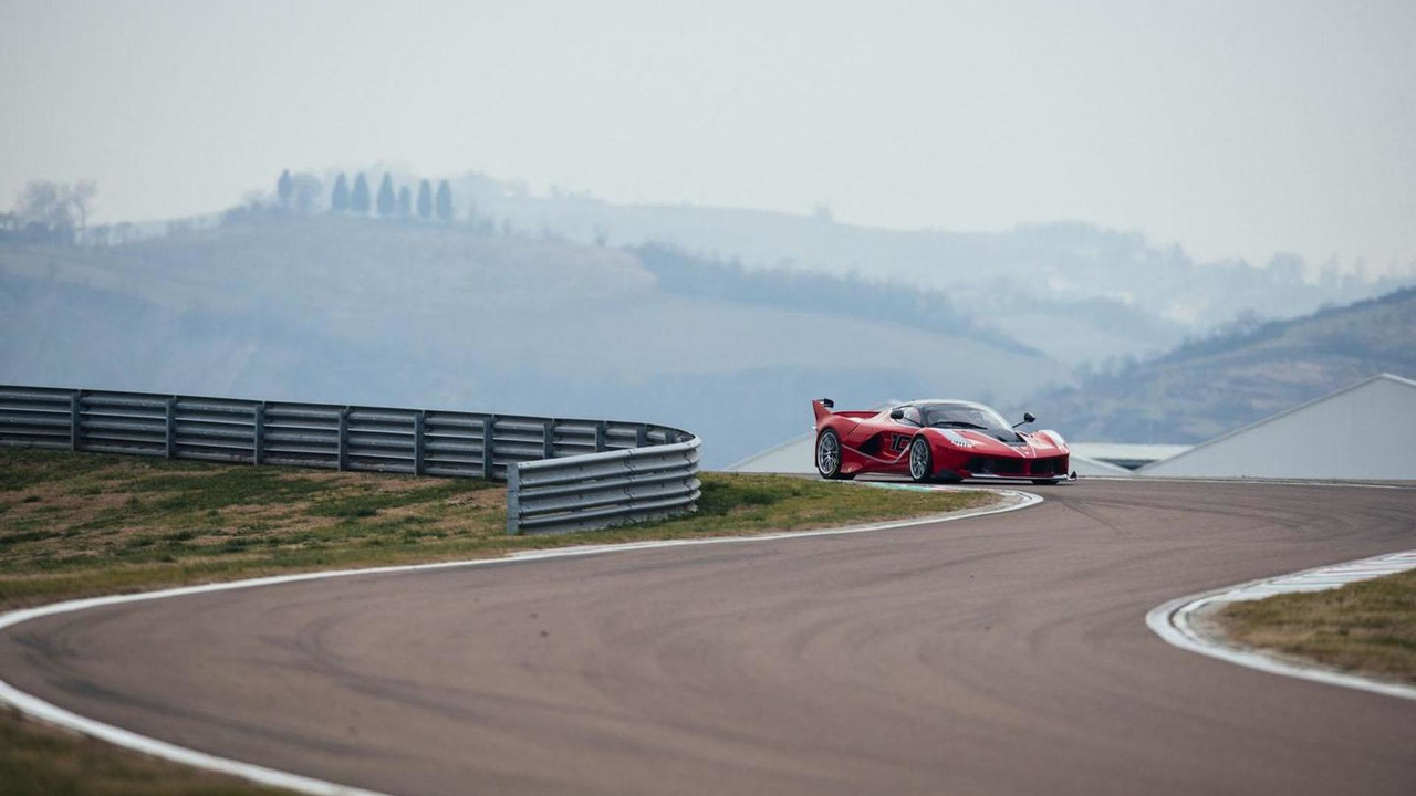 Sebastian Vettel and the Ferrari FXX K