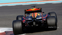 Max Verstappen, Red Bull Racing testing the new 2017 Pirelli tires