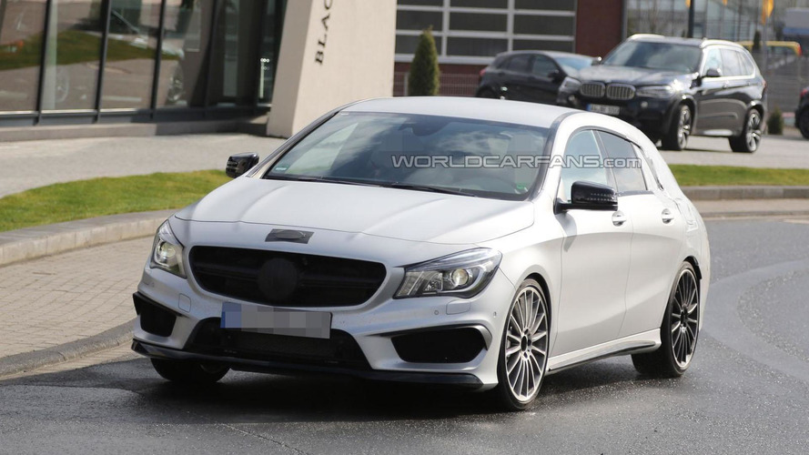 Mercedes CLA 45 AMG Shooting Brake spied for the first time