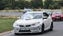 Honda Civic Type R Facelift Spy Photos