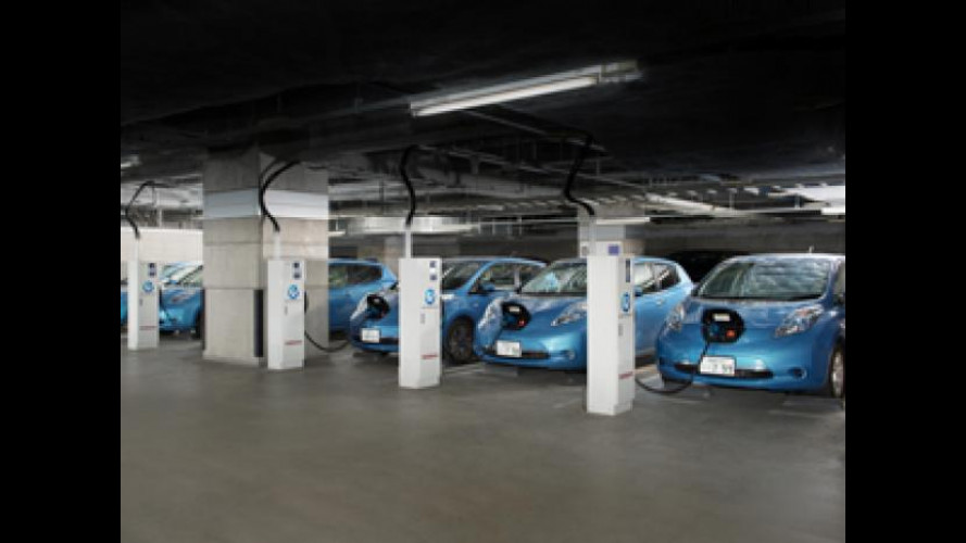 Nissan Leaf fornisce energia alle aziende