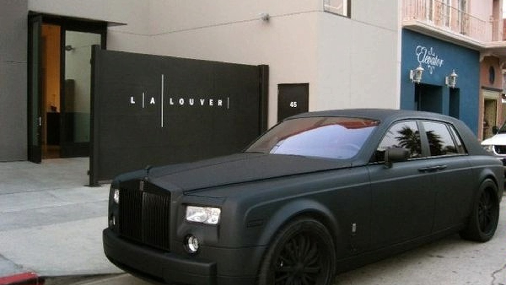Matte Black Rolls Royce Phantom Menace