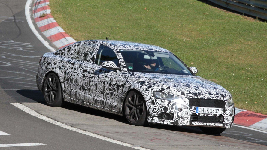 2012 Audi A6 spied at the Nürburgring