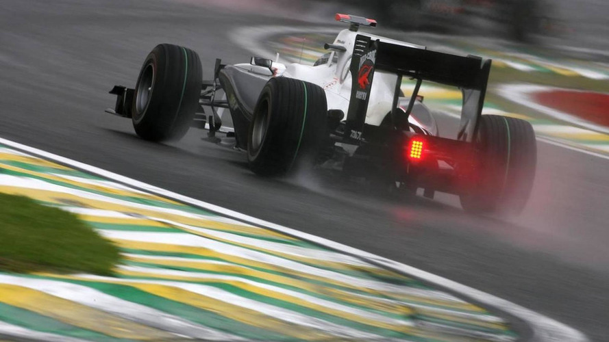 Interlagos track sodden before Saturday practice