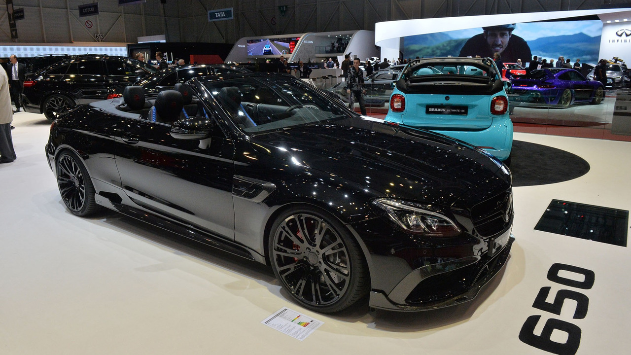 mercedes amg c63 s cabriolet by brabus heading to geneva with 650 hp. Black Bedroom Furniture Sets. Home Design Ideas