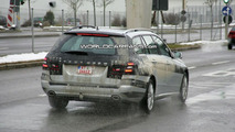 Mercedes E-Class wagon spied with most of body undisguised