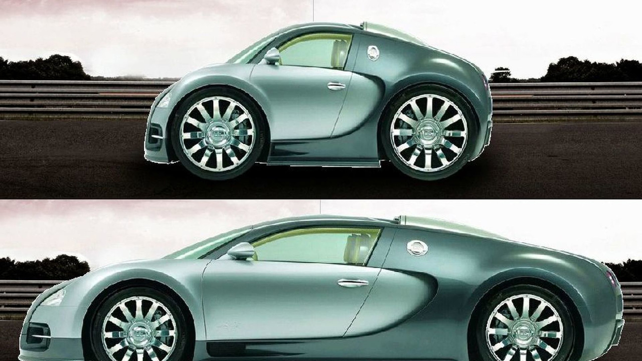 The supercar Shrinker - Bugatti Veyron