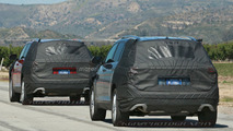 VW three-row SUV spy photo