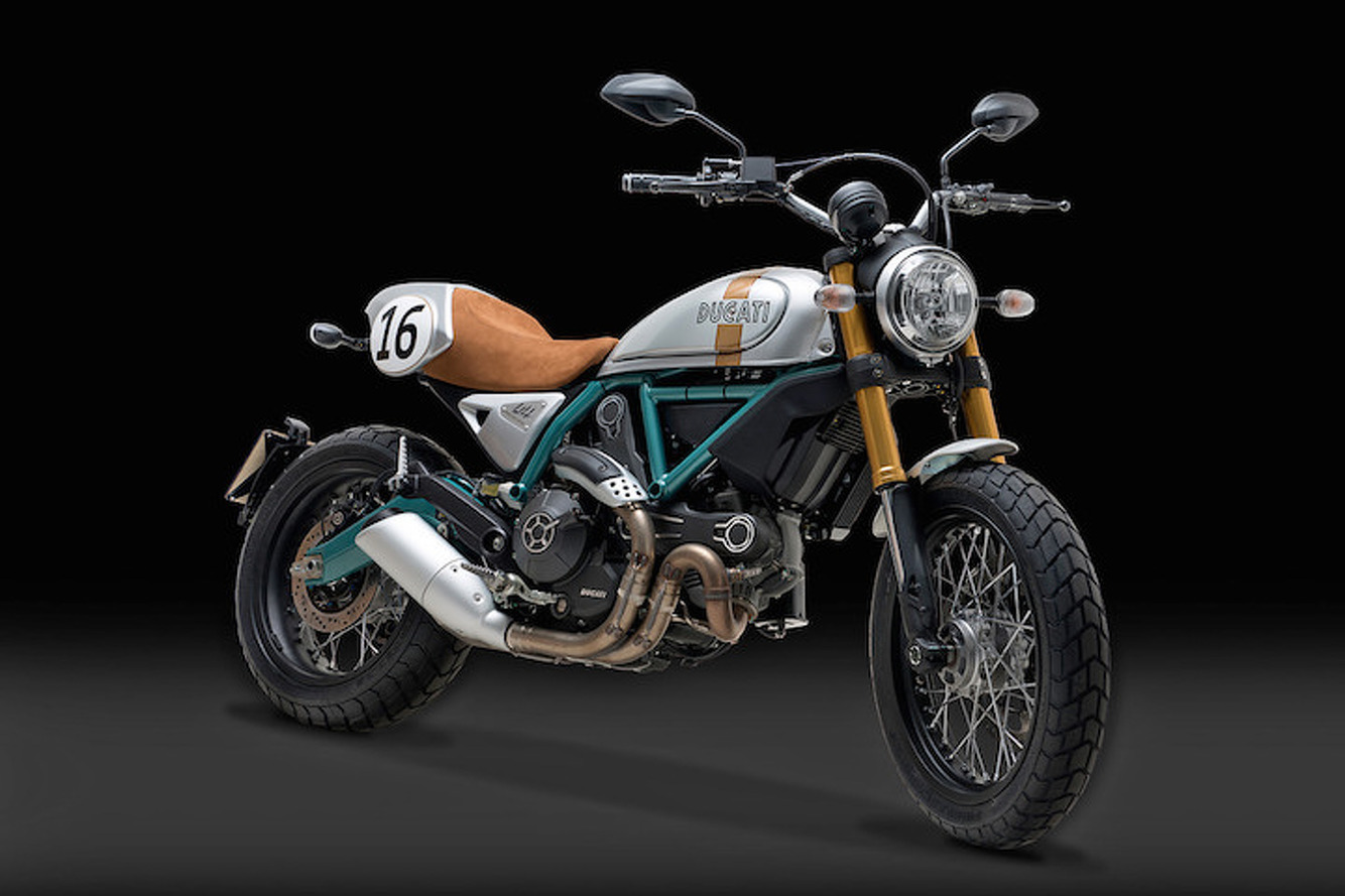 Beautiful Ducati Scrambler Custom Honors One of Racing's Best