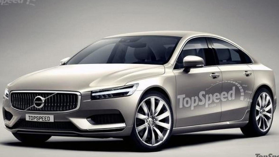 Volvo S90 render shows elegant body