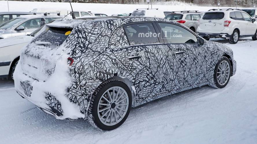 Plug-in hybrid Mercedes A-Class spotted for the first time