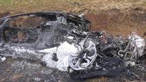 Lamborghini Aventador after crash