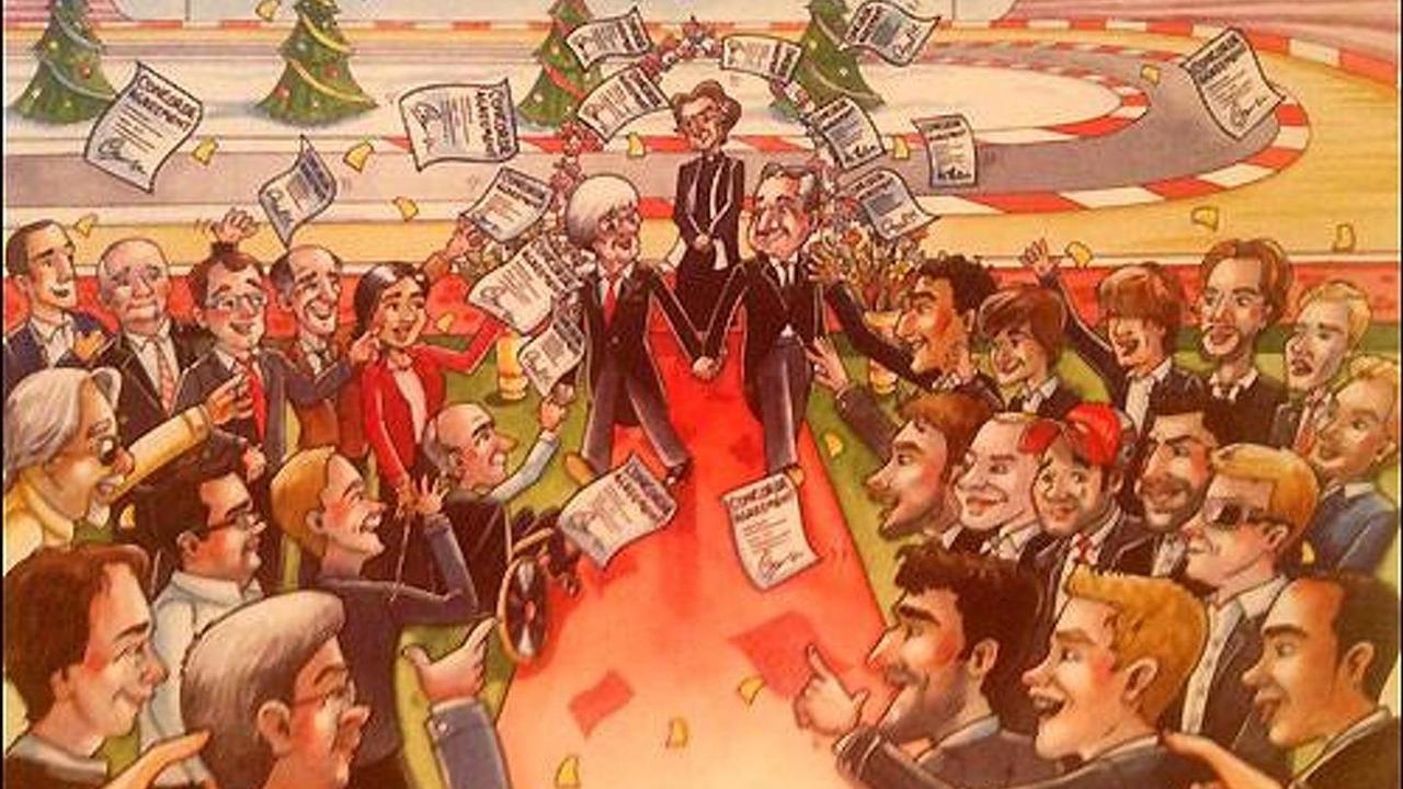 Bernie Ecclestone 2013 Christmas card