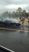 Tesla Model S Fire 07.11.2013