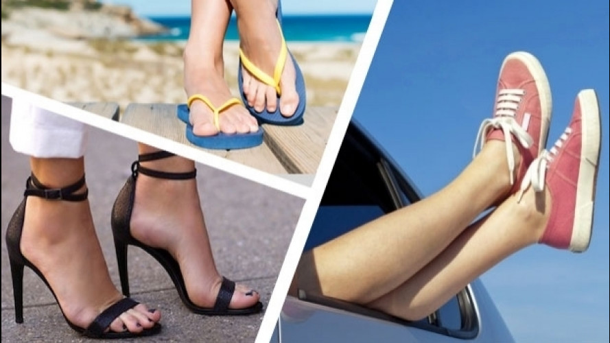 Guidare d'estate, le calzature anti-multa