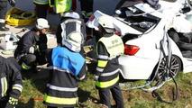 BMW 3-Series Hybrid prototype crash