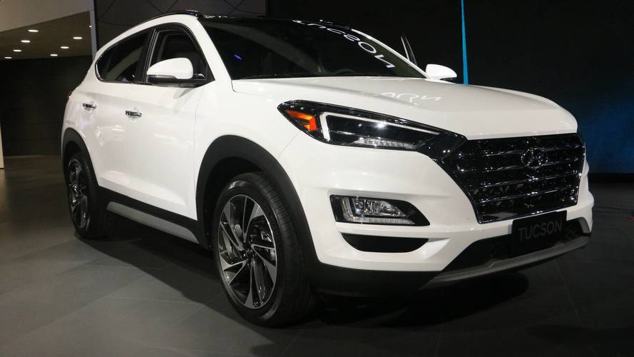 2019 hyundai tucson arrives with major styling updates new tech. Black Bedroom Furniture Sets. Home Design Ideas