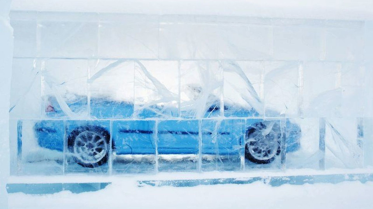 Saab 9-3 Convertible Gets 'Iced'