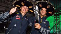 Podium: third place Daniel Ricciardo, Red Bull Racing with Max Verstappen, Red Bull Racing