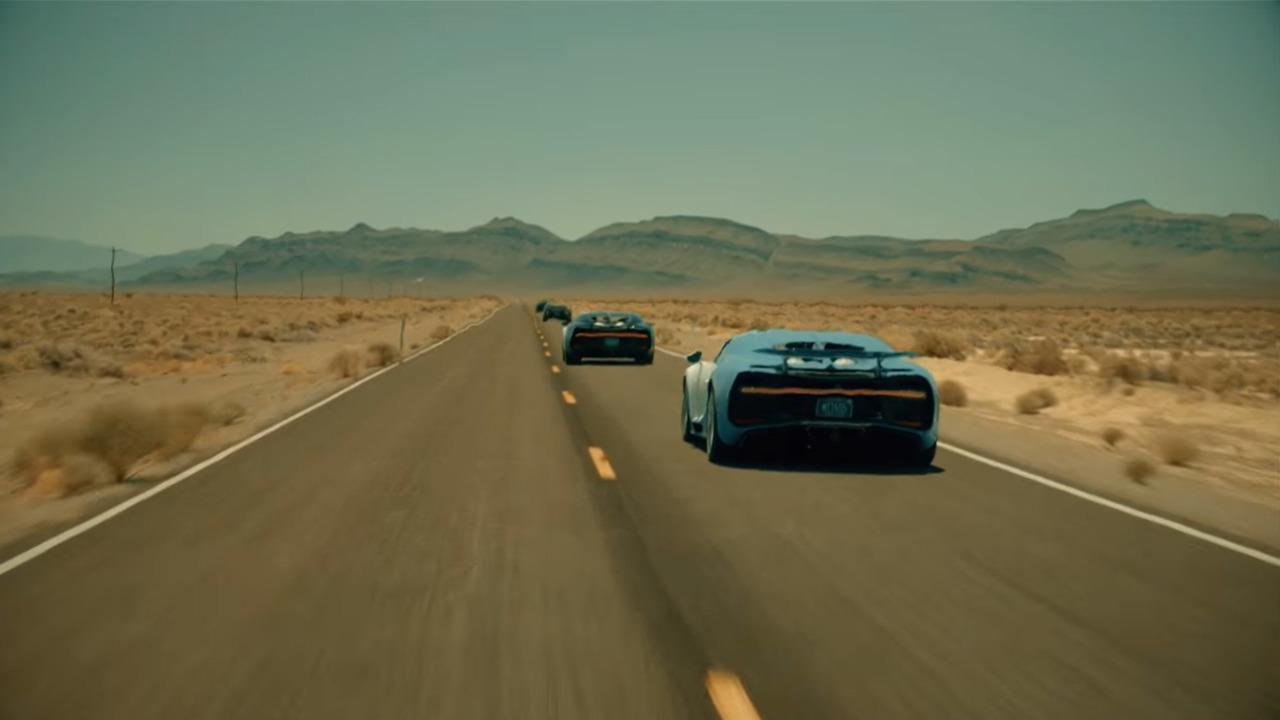 Tests de la Bugatti Chiron dans le désert du Nevada