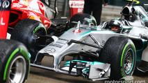 Nico Rosberg, Mercedes AMG F1 W05 in parc ferme