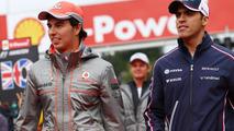 Sergio Perez and Pastor Maldonado 25.08.2013 Belgian Grand Prix