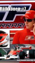 Kimi Raikkonen number 7 for 2014 Formula 1 season