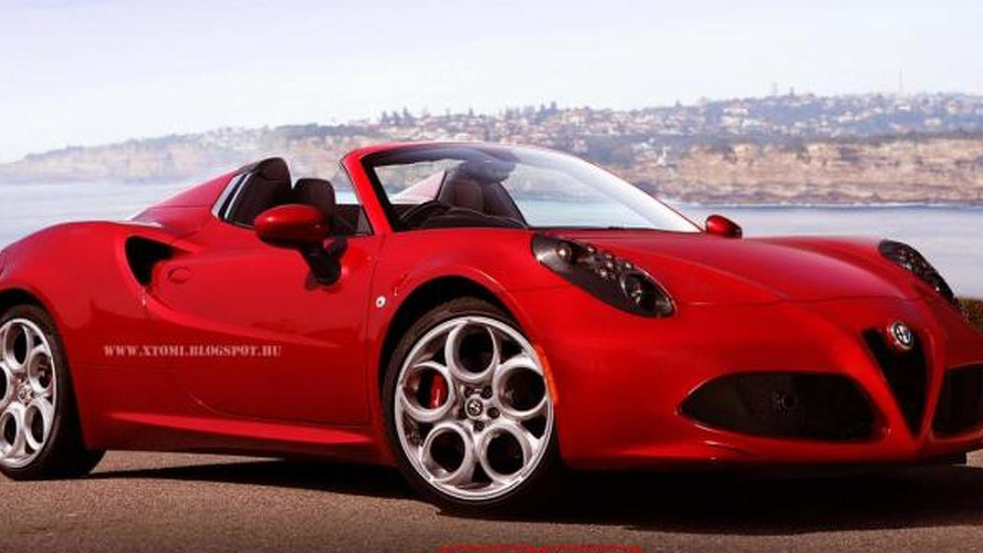 Alfa Romeo 4C Spider render by X-Tomi seems quite promising