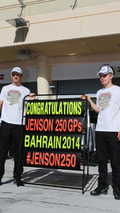 Jenson Button (GBR) celebrates his 250th GP with team mate Kevin Magnussen (DEN) / XPB