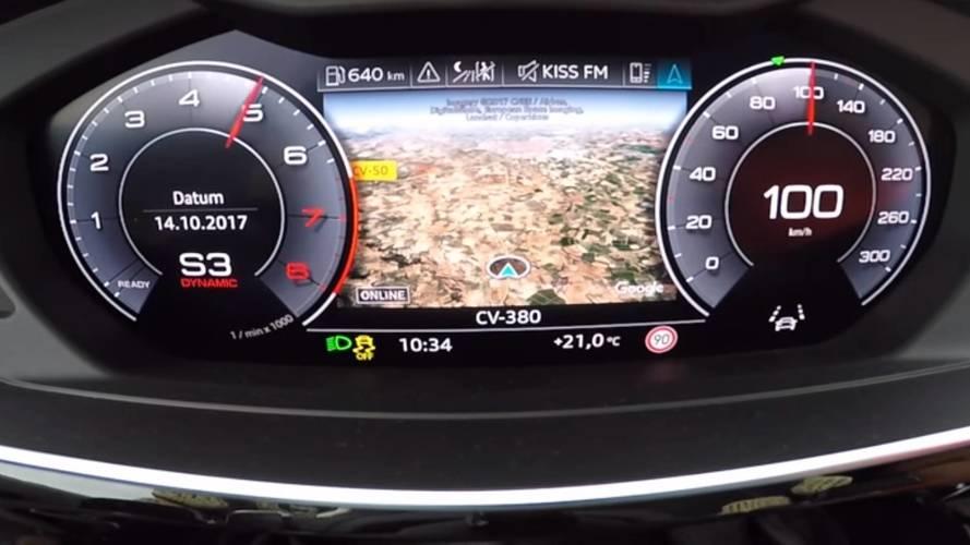 Yeni Audi A8'i 5.5 saniyede 100 km/h hıza ulaşırken izleyin