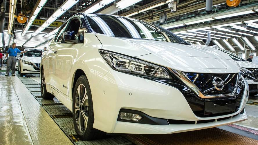 2018 Nissan LEAF rolls off the line in Japan