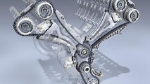 Mercedes-Benz two-part chain drive in the new V-engines 07.05.2010