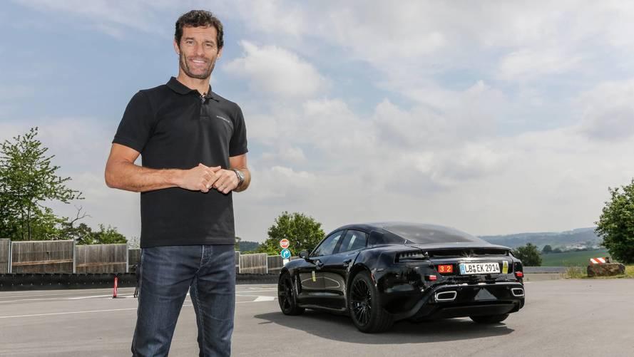 Mark Webber pilote la Porsche Mission E