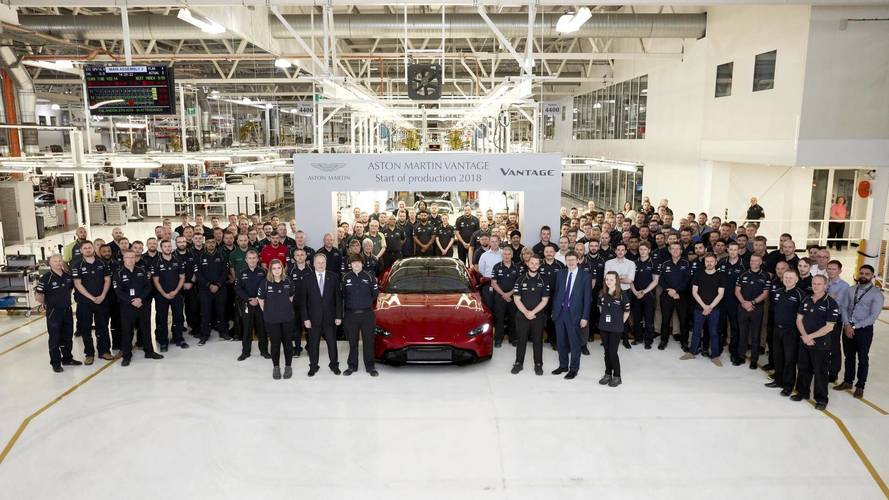 Aston Martin Vantage - La production a débuté