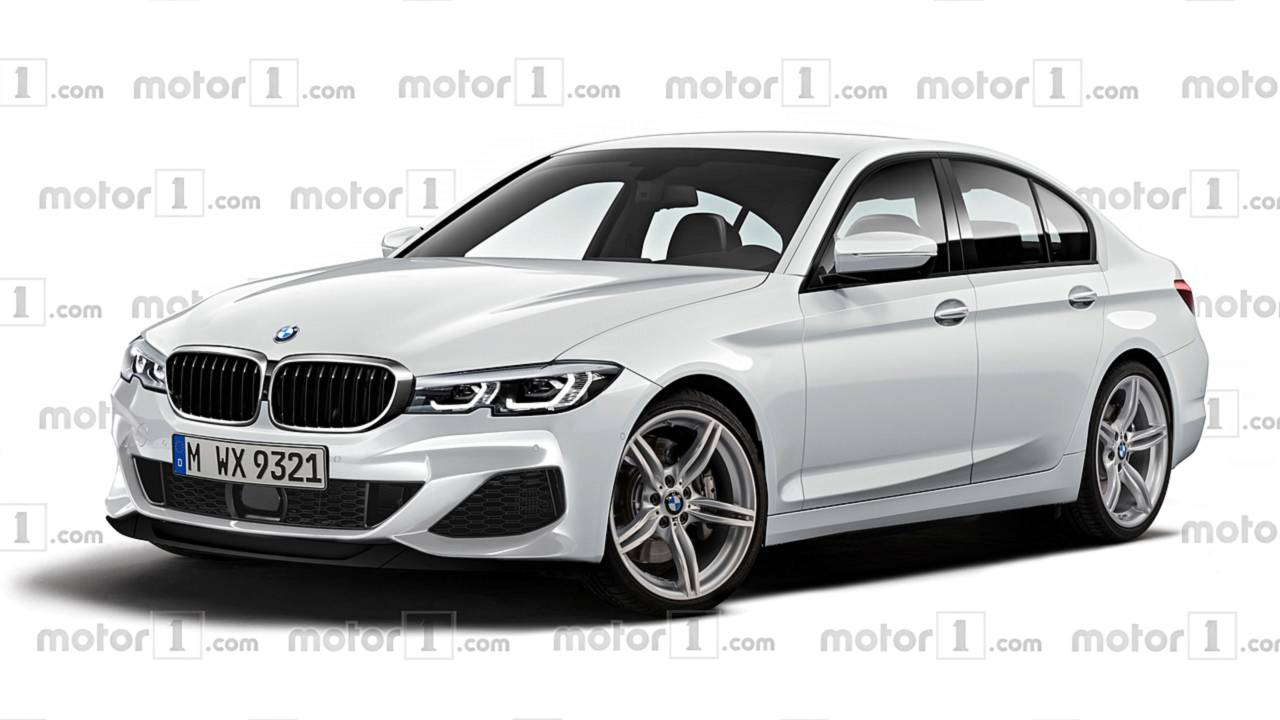 2019 bmw 3 series render envisions the quintessential sports sedan. Black Bedroom Furniture Sets. Home Design Ideas