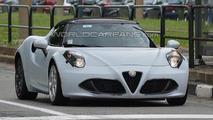 Alfa Romeo 4C Spider spy photo
